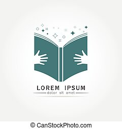 logo, conception, vecteur, education, livre