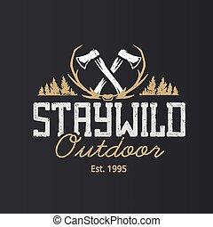 logo, conception, vecteur, gabarit, retro, emblèmes, extérieur