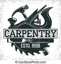 logo, conception, vendange