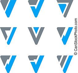 logo, constitué, luxe, &