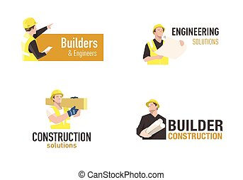 logo, construction