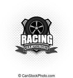 logo, courses, conception, gabarit