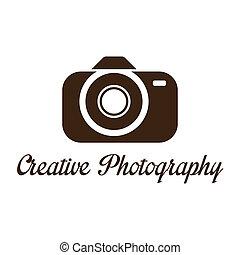 logo, créatif, gabarit, photographe