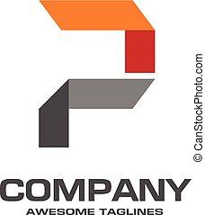 logo, creatief, p, brief