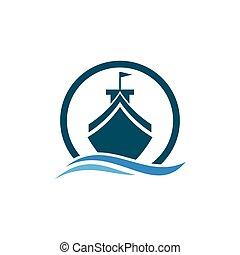 logo, croisière bateau