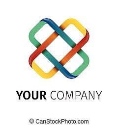 logo, croix, lettre x