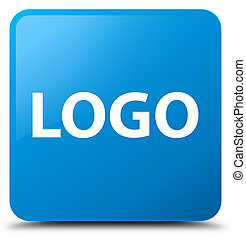 Logo cyan blue square button