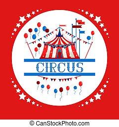 logo, cyrkowy namiot