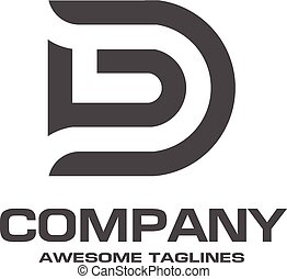 logo, d, brief, kreativ
