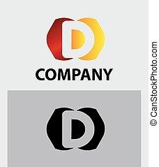 Logo D Letter company vector design
