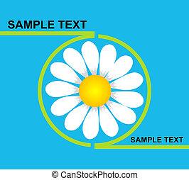 Logo daisy - Green profile containing a white daisy