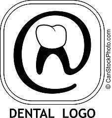 logo, dentaire, dents