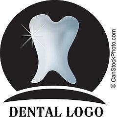 logo, dentaire, vecteur, dent