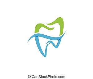 logo, dental, schablone