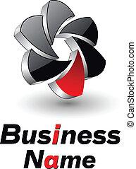 Logo design 3d shutter, vector.