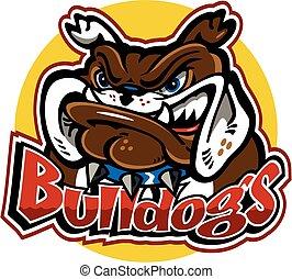 logo, design, bulldoggen