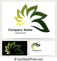 Logo design, business card template