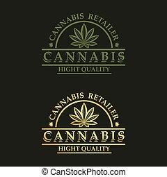 logo, design, cannabis