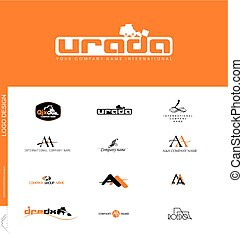Logo design - Construction companies, land works created...