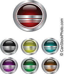 Logo design elements: glass, metallic ball, sphere.