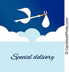 Logo design element Special delivey