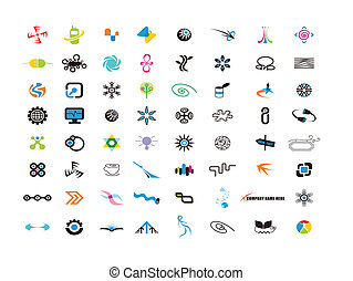 logo design elements for designer - logo design elements set...