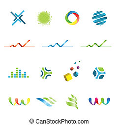Logo design elements set - Set of logo design corporate...