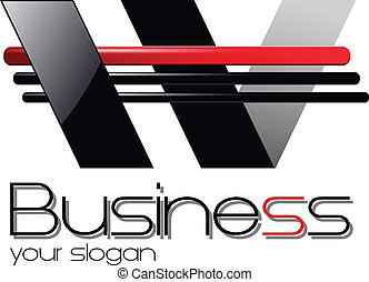 logo design - Logo for business, dynamic black and red.