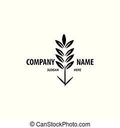 Logo design for agriculture, agronomy, wheat farm