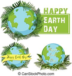 Logo design for happy earth day