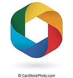 Logo design in six colors