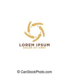 logo, design, korn, mall