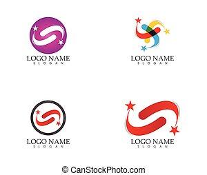 logo, design, kreis, vektor, sternen