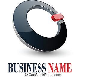logo design - Logo design, 3d glossy circle, vector...