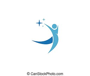 logo, design, menschliche , schablone, caracter