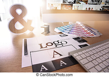 Logo design - reative concept for website and mobile banner...