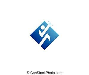 logo, design, schablone, menschliche , caracter