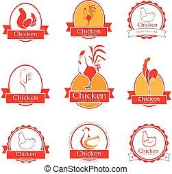 Logo design template chicken.