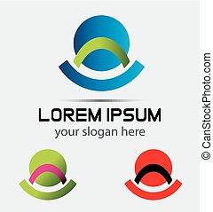 Logo design template creative sign