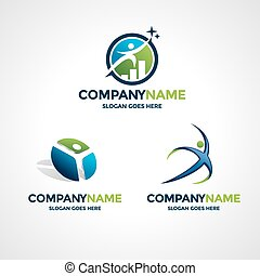 Logo design templates - Set of three logo design templates...