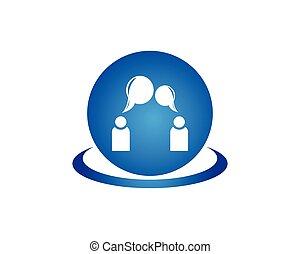 logo, design, unterhaltung, schablone, leute