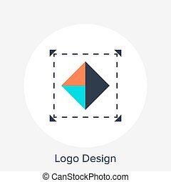 Logo Design - Vector illustration of logo design flat...