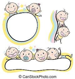 Logo design with babies