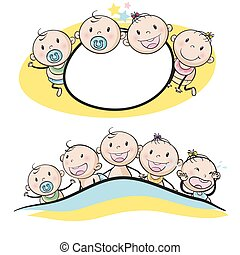 Logo design with babies smiling
