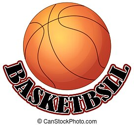 Logo design with basketball