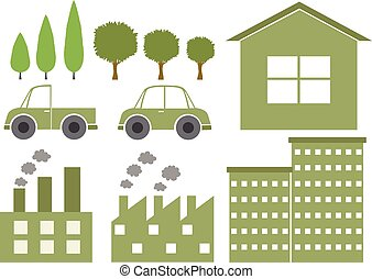 Logo design with environmental theme