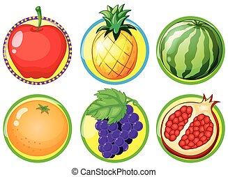 Logo design with fresh fruits
