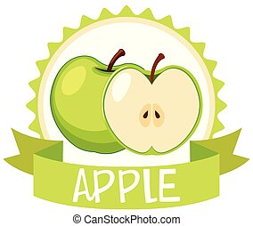 Logo design with green apples