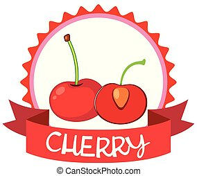 Logo design with red cherries