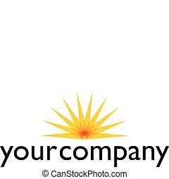 Logo design your company - Logo design concept with sun...